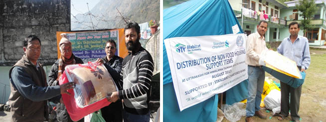 Distribution of Emergency Shelter Kits