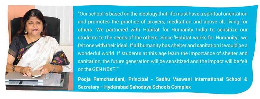 Pooja Ramchandani, Principal - Sadhu Vaswani International School & Secretary – Hyderabad Sahodaya Schools Complex
