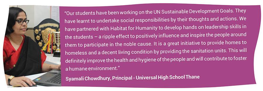 Syamali Chowdhury, Principal - Universal High School Thane