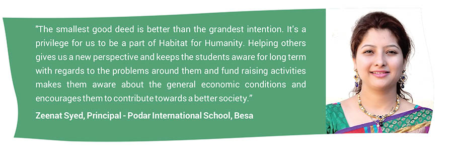 Zeenat Syed, Principal - Podar International School, Besa